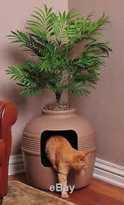 corner cat litter box furniture. Hidden Cat Litter Box Furniture Pot Conceal Corner Plant Pet Toilet Cubby Cave