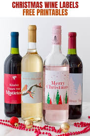 Free Printable Wine Labels Holiday Wine Labels Free Printables Onion Rings Things