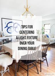 dining room table lighting. When We Purchased Our 1930\u0027s Home, The Light Fixture Above Table In Dining Room, Was A Bit Off Center. It About 10\u2033 To Be Exact And Just Room Lighting N