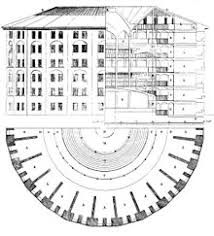 architectural drawings. Wonderful Architectural Architectural Drawing Combining Elevation Section And Plan Drawings By  Willey Reveley Of Jeremy Benthamu0027s Proposal For A Panopticon Prison 1791 On Drawings