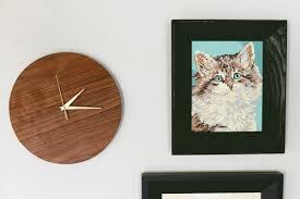 mid century wall clock diy