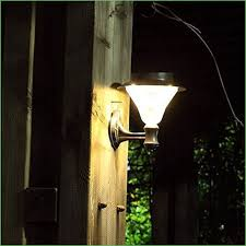lighting solar outdoor led light fixture pole post wall mount kit for patio post lights
