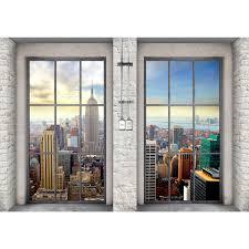 Fenster Nach New York Vlies Foto Wandtapete Xxl Dekoration Runa 9345bp