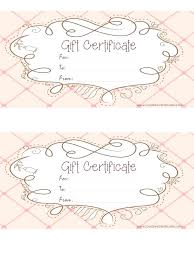 diy gift certificate pink gift certificate template free printable pink gift certificate with a brown drawing diy gift card for mom