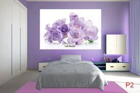 Purple Flower Wallpaper For Bedroom Mural Gentle Purple Flowers