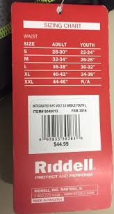 Riddell Girdle Size Chart Riddell Youth Girdle Sold Football Protective Sidelineswap