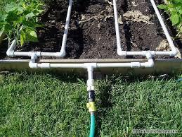 pvc irrigation system update garden