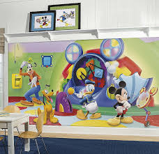 mickey mouse clubhouse capers xl mural 10 5 x 6 pokkadots on mickey mouse metal wall art with beautiful minnie mouse wall art p41ministry