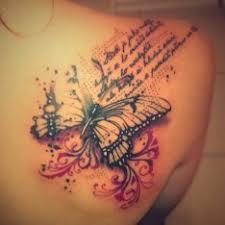 Tetování Motýlci Záda Tetování Tattoo