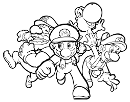 Small Picture Amazing Mario Brothers Coloring Pages 31 For Line Drawings with