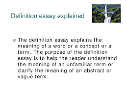 definition essay english language lecture slides docsity this is only a preview