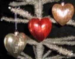kd vintage mercury glass heart ornaments this