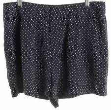 Details About Joie Blue Polka Dot Silk Dress Shorts Size 4