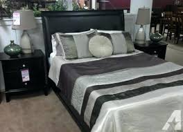 black leather queen bed new black leather headboard queen bed two left great ireland queen faux leather bed black