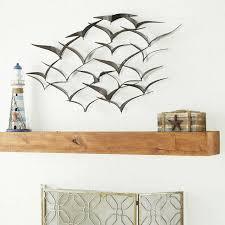 wall sculpture metal flying seagulls