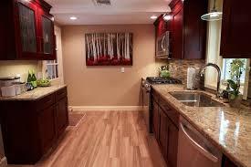 porcelain faux wood flooring traditional kitchen boston
