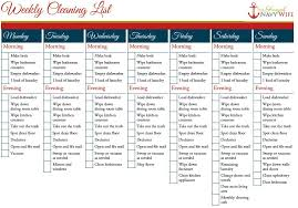 cleaning schedule printable weekly and monthly cleaning schedule printable