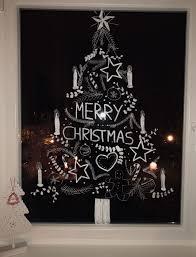 Fensterbild Zu Weihnachten Selfmade Mit Kreidestift