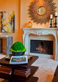 wood fireplace mantels living room traditional with accent table art carpeting carved stone coffee