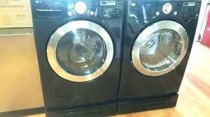black washer and dryer. Lg Front Load Washer Pedestal Black And Dryer Set With Pedestals For Whirlpool Duet