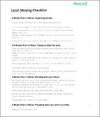 Moving Checklist Template Inspiration It Office Relocation Planning Bestuniversities