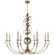 visual comfort eight light chandelier gilded iron