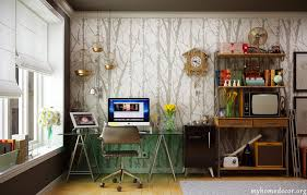 wallpapered office home design. My Home Decor Latest Decorating Ideas Interior Design · Remarkable Office Wallpaper Wallpapered Front Houses