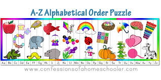 Alphabetical Order A Z Alphabetical Order Puzzle Confessions Of A Homeschooler