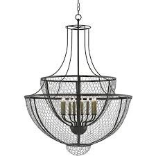 french country wire basket chandelier 2 740 liked on polyvore featuring home lighting