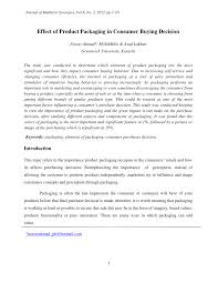 Questionnaire About Packaging Design Pdf Effect Of Product Packaging In Consumer Buying Decision