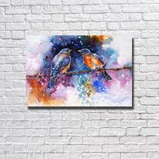 large beautiful hand painted abstract birds oil painting on canvas painting modern living room wall