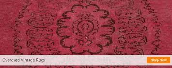 the journey of over dyed rugs began in istanbul turkey during efforts to revitalize old hand woven rugs vintage rugs were first decolorized and then