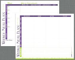 Menu Planning Template Printable Weekly Meal Planning Calendar Templates Printable By Plan Template