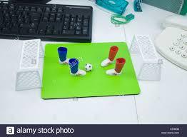 plastic office desk. Table Top Football On A Office Desk, Plastic Desk