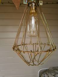 industrial cage pendant light lamp wire diy kit gold make your own lights fixture hanging bulb