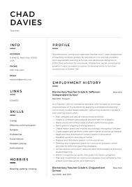 Resume Templates Teachers Teacher Resume Sample Writing Guide Resumeviking Com