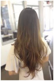 Long Hair Balayage Razored Carsten Cut Brown Hair Ombré Color Melt
