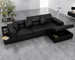 storage with kinsey 100 leather sectional sofa left struc pertaining to with regard to leather sofa bed with