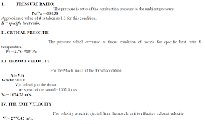 the following values property is based upon the propellant mixture and initial values of the static thrust condition the formulas used for the obtaining