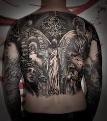 Tetování Démoni Záda Tetování Tattoo