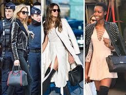 victoria s secret models and their fantastic handbags swarm paris