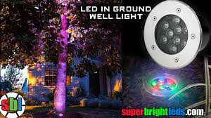 led in ground color changing well light high power rgb leds
