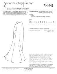 Mermaid Skirt Pattern Simple RH48 Late Victorian And Edwardian Mermaid Skirt Reconstructing
