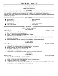 Stylish Manual Test Engineer Sample Resume Cosy Best Software