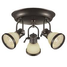 3 light oil rubbed bronze canopy track light kit