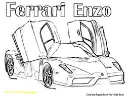 Coloring Pages Of Ferrari Interesting Alluring With Enzo Arresting