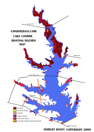 Lake Conroe Nautical Chart Hazard Map Lake Conroe Texas Kayaking Hazard Map