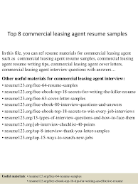 top 8 commercial leasing agent resume samples in this file you can ref resume materials cover letter leasing agent