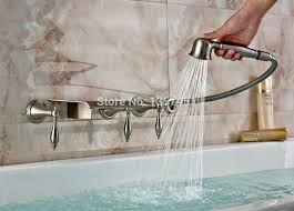 wall mounted tub faucets wall mount tub faucet brushed nickel impressive waterfall bathtub mixer tap with wall mounted tub faucets