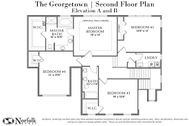the a and b second floor plan